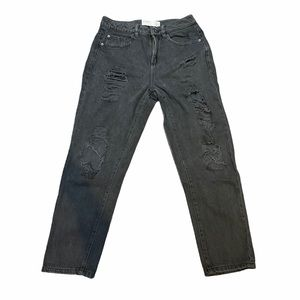 Black Garage Ripped Mom Jeans   Size 05
